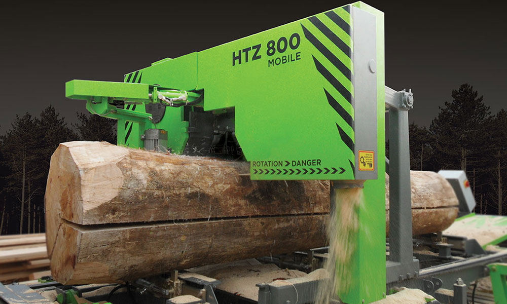 Portable saw mill htz 800 for logs