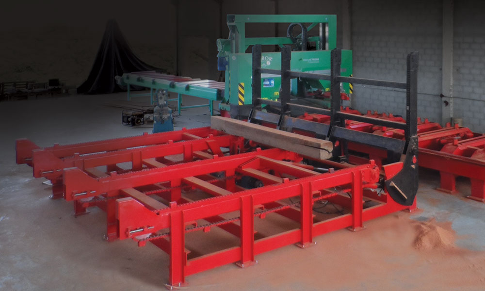 Sawing line in Angola - EXTREME sawing line for large logs