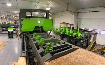 Sawing line for oak in USA